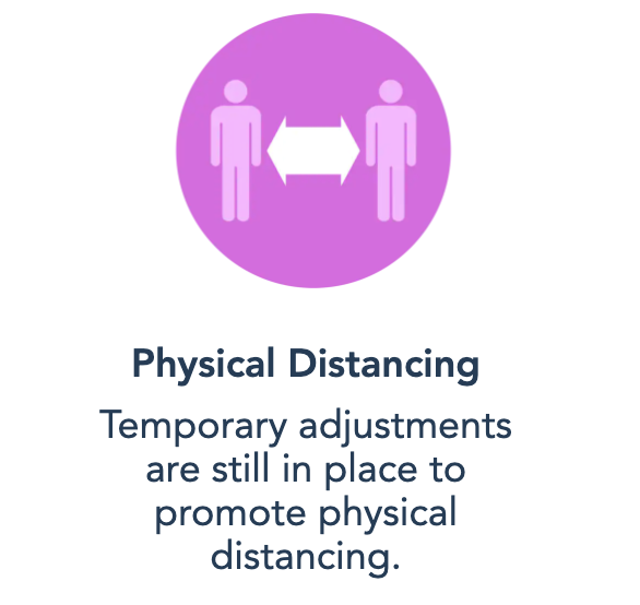Physical Distance Guidelines Still Present on Disney's Website