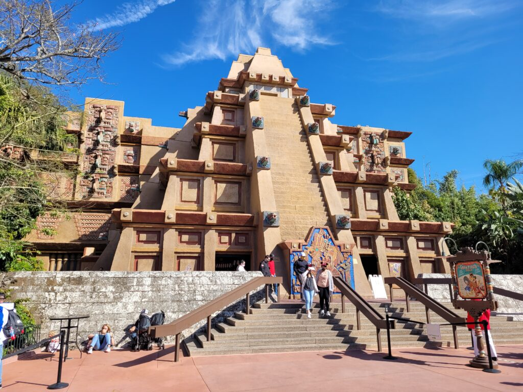 Pyramid in Mexico Pavilion at Epcot