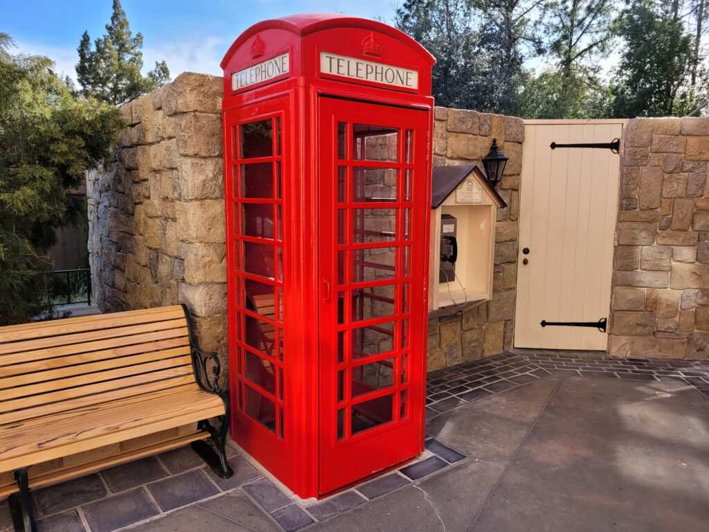 Red Phone Booth in United Kingdom Pavilion at Epcot