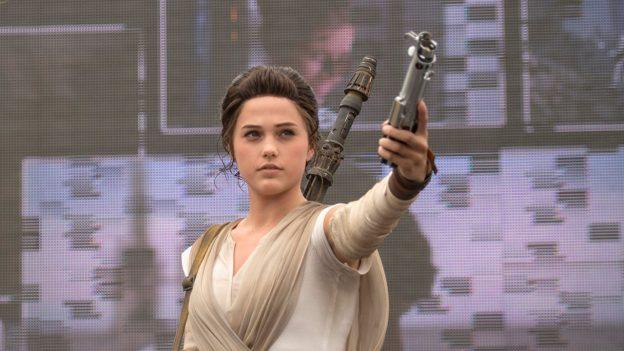 Rey Character Meet and Greet in Star Wars Galaxy's Edge - Disneyland Theme Park