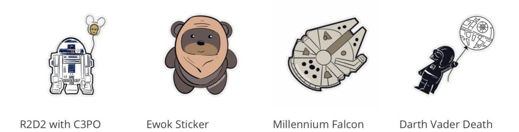 DVC Shop Market Star Wars stickers offered on market.dvcshop.com