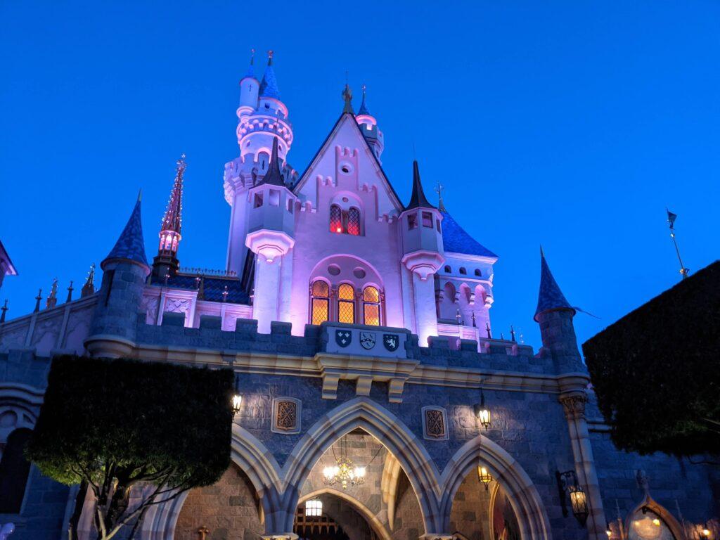 Sleeping Beauty Castle at Dusk - Rear View