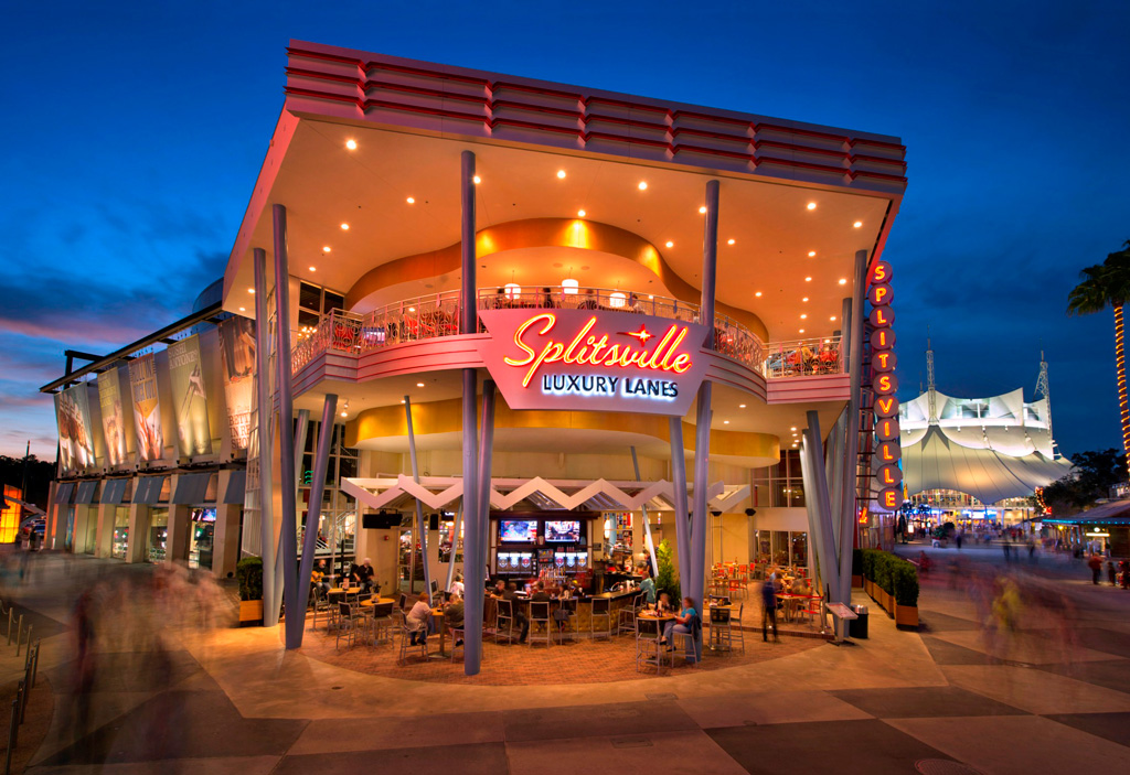 Splitzville Bowling Exterior at Disney Springs