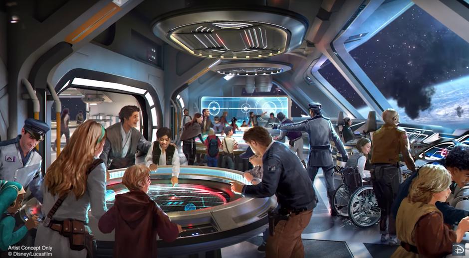 Star Wars Galactic Starcruiser Artist Rendering