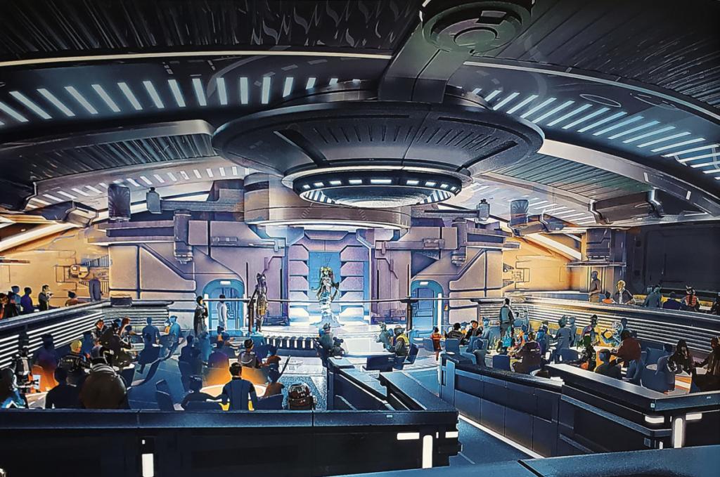 Star Wars' Galactic Starcruiser Dinner Show Artist Rendering