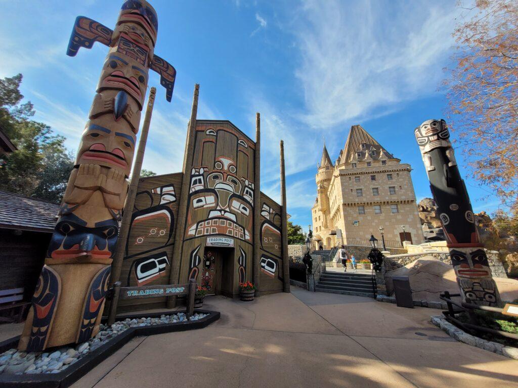 Totem poles at EPCOT's Canada Pavilion