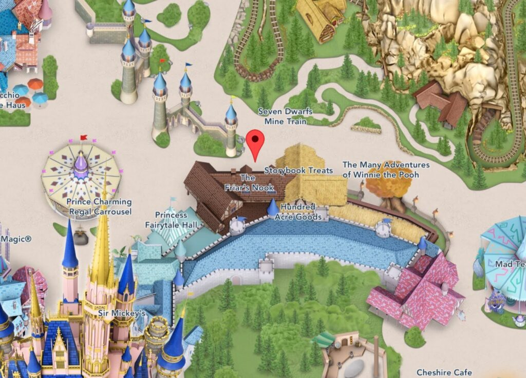 Where to Find The Friar's Nook at Magic Kingdom