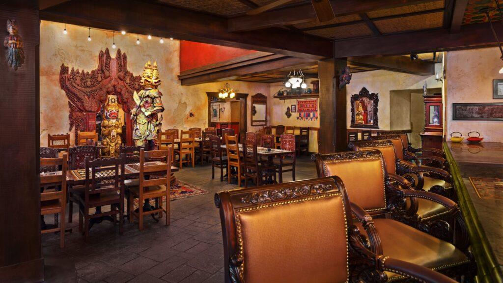 Decor at Yak and Yeti Restaurant