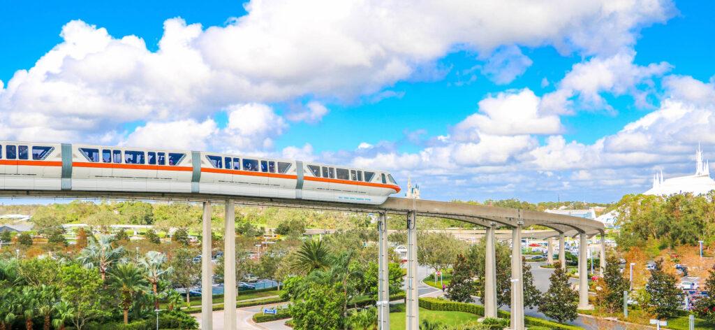 Disney's Monorail traveling to Magic Kingdom