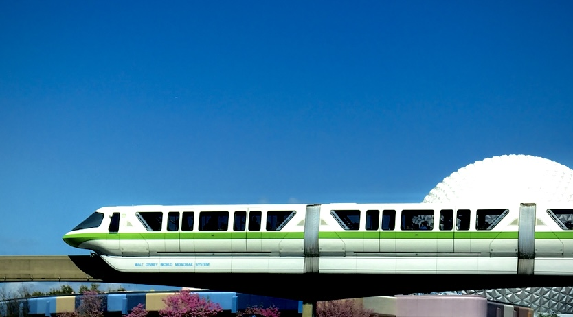 Disney's Monorail passing by EPCOT