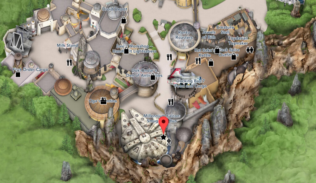 Millennium Falcon: Smugglers Run location - Disney World Hollywood Studios