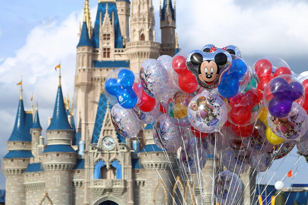 Balloons in front of Cinderella Castle - Magic Kingdom