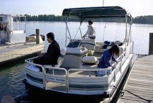 Bass Fishing Tour boat at Disney World