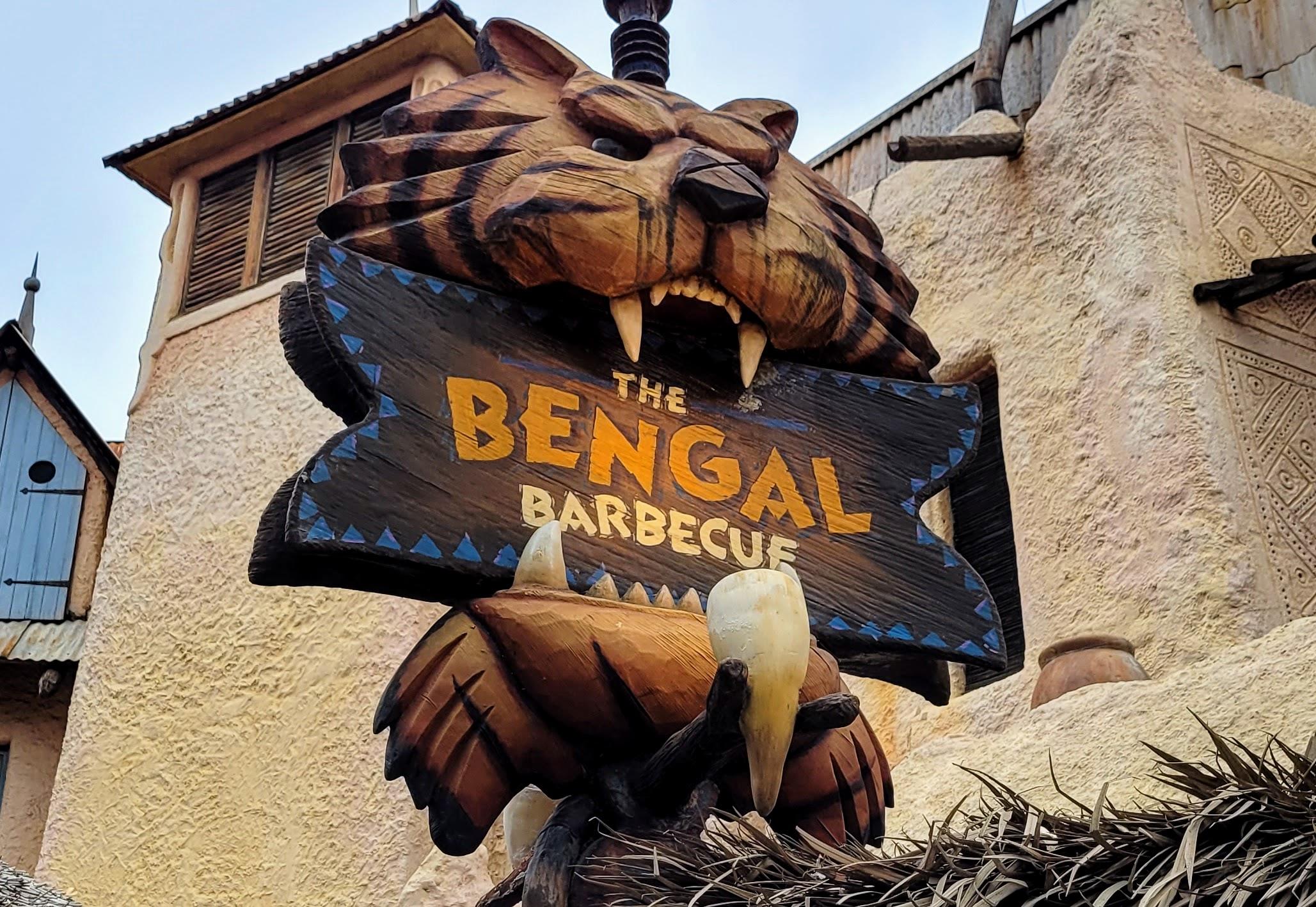 Bengal Barbecue Sign at Disneyland
