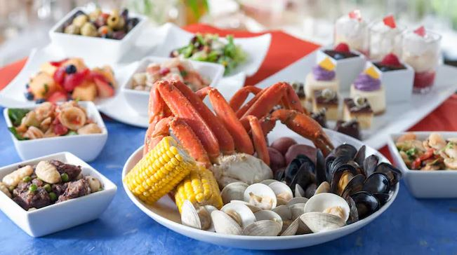 All you can eat feast at Cape May at Disney's Beach Club Resort