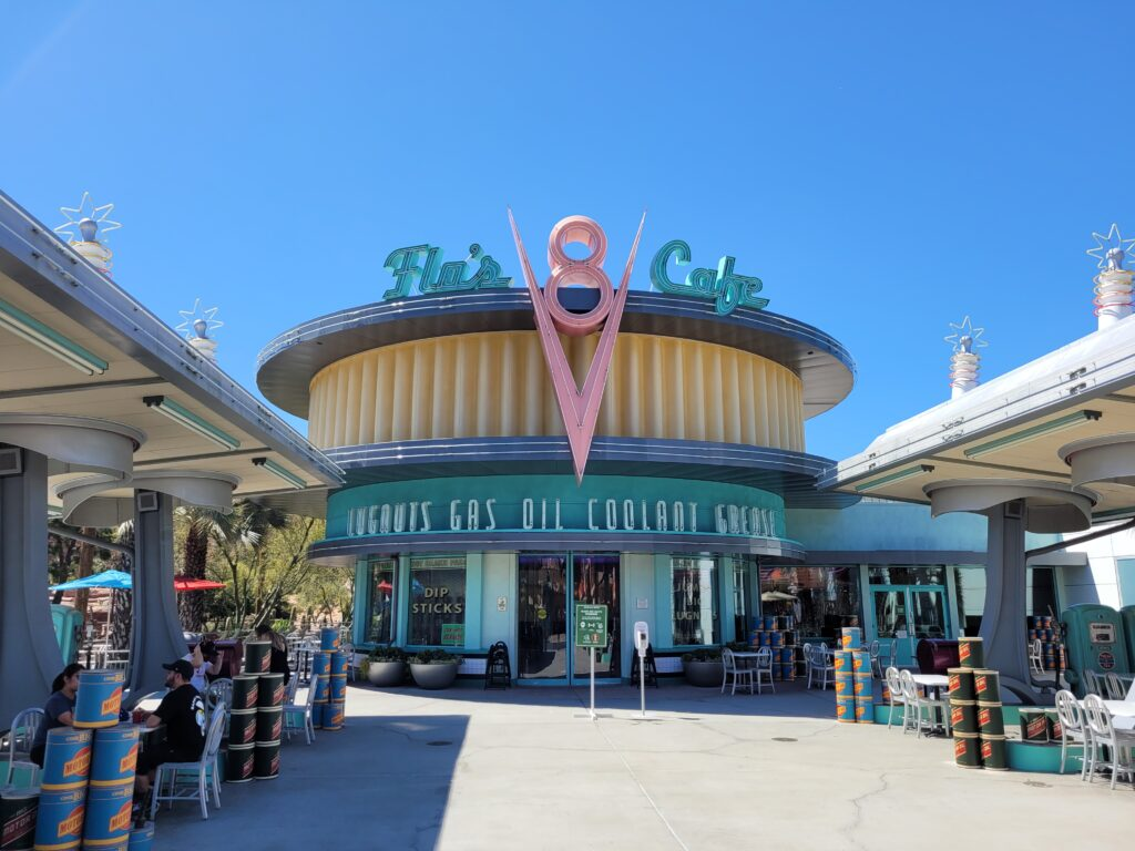Flo's V8 Cafe in Cars Land at California Adventure