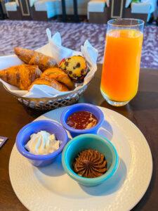 Breakfast pastries at Topolino's at Disney DVC Riviera Resort