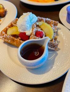 Waffles at Topolino's Character Terrace Dining at DVC Riviera Resort