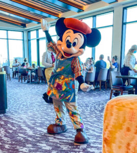 Mickey Mouse at Topolino's Character Terrace Dining at DVC Riviera Resort
