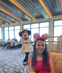 Minnie Mouse at Topolino's Character Terrace Dining at DVC Riviera Resort