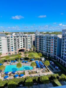 Disney's Riviera Resort Pool from bird's eye view - Disney World