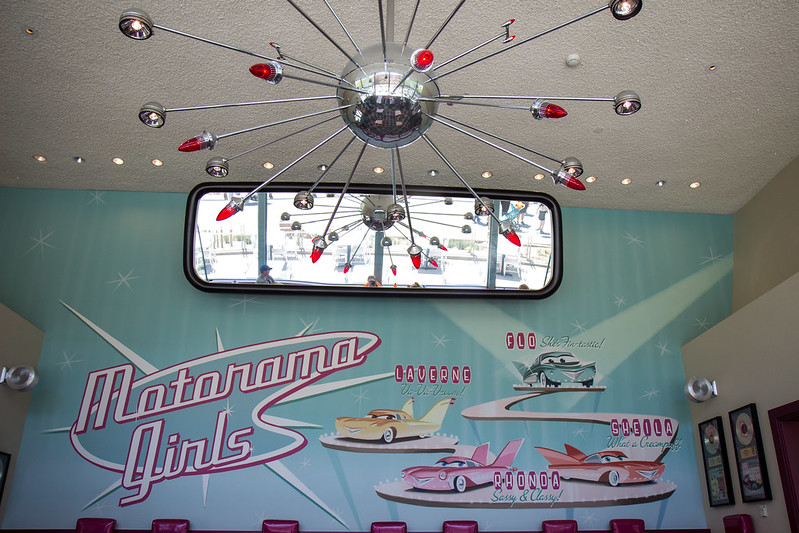 Inside One of the Dining Rooms in Flo's V8 Cafe at Disney California Adventure by HarshLight