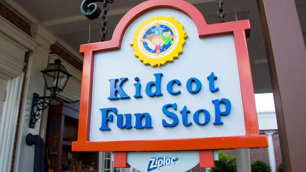 Kidcot Fun Stops Sign at Epcot