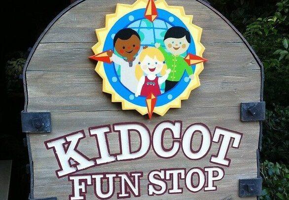 Kidcot Fun Stop sign at Epcot