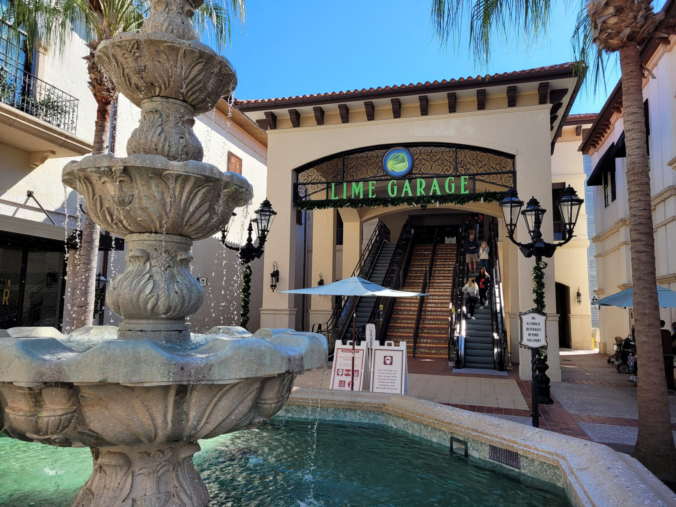 Lime Garage Entrance to Disney Springs