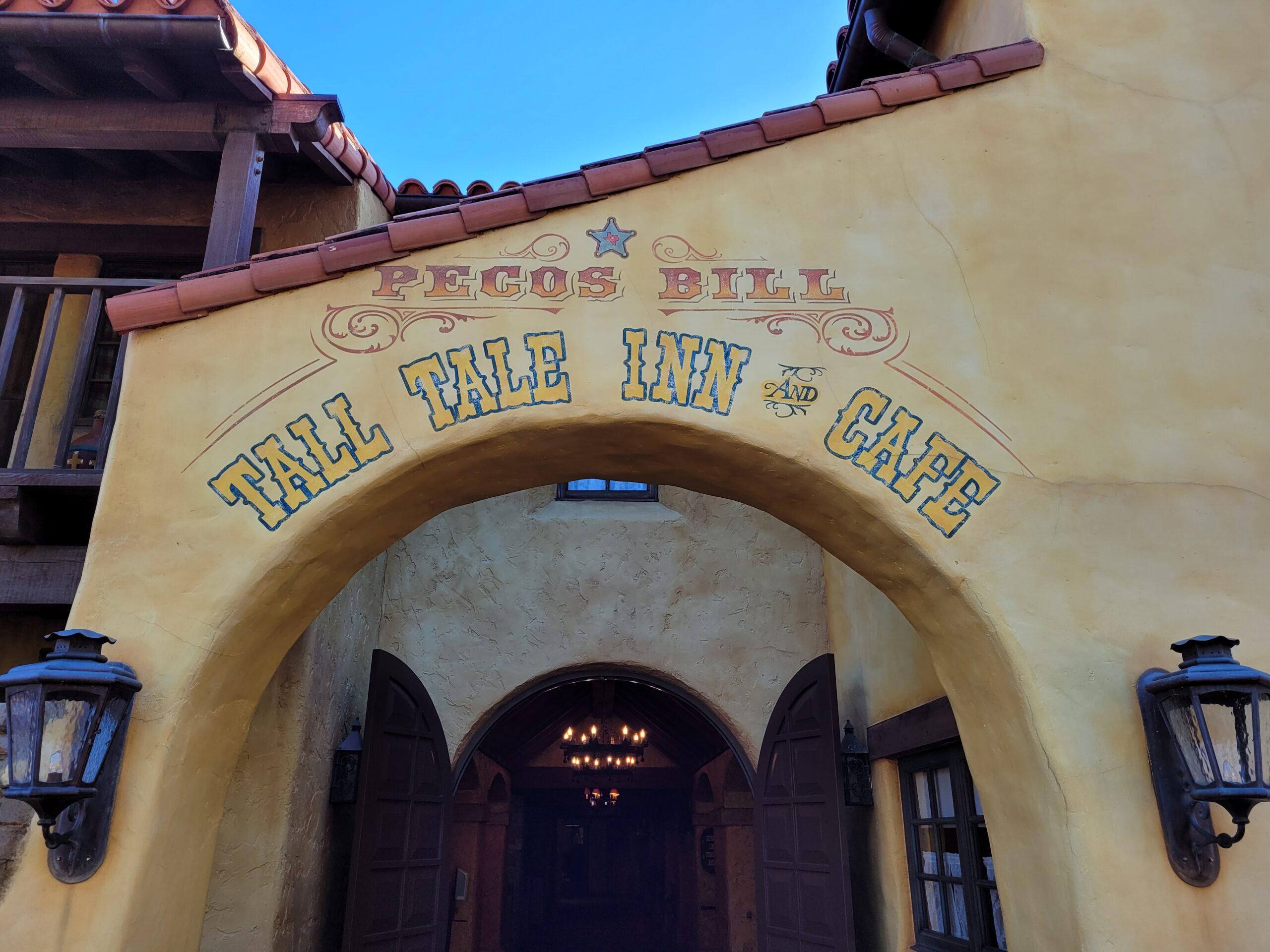 Pecos Bill Tall Tale Inn & Cafe Sign