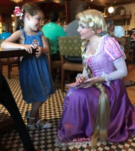 Character Dining is an option for Dining Plans with table service credits.