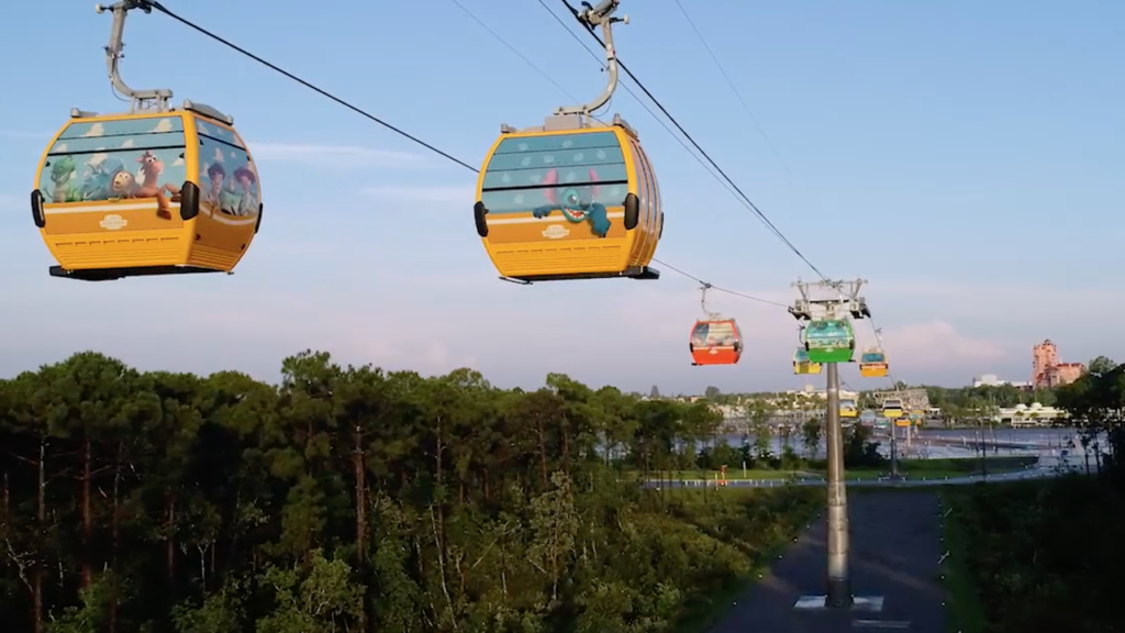 Disney's newest form of transportation is the Skyliner