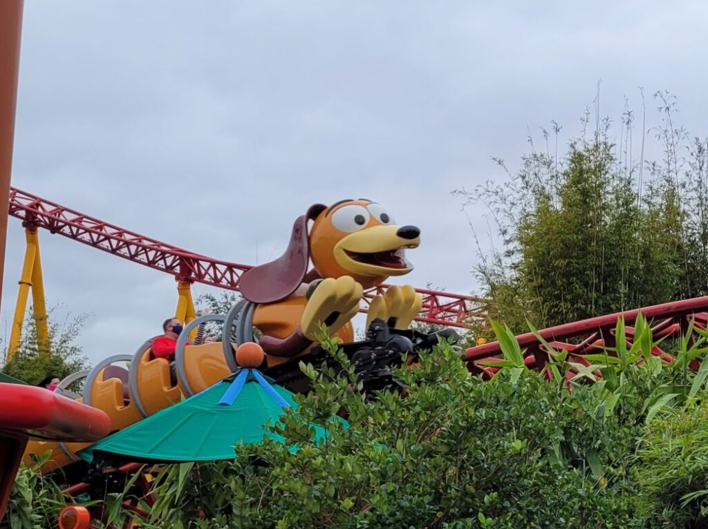 Slinky Dog Dash Coaster In Action