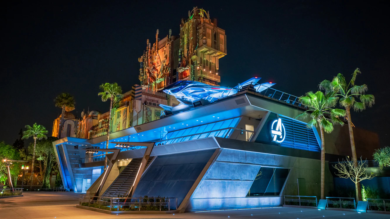 The Quinjet at Avengers Campus