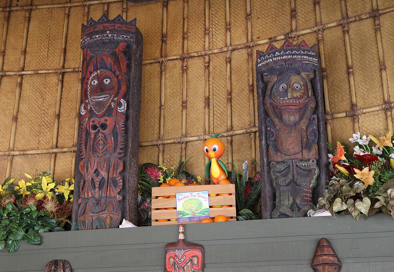 The Sunshine Tree Terrace features a Polynesian theme