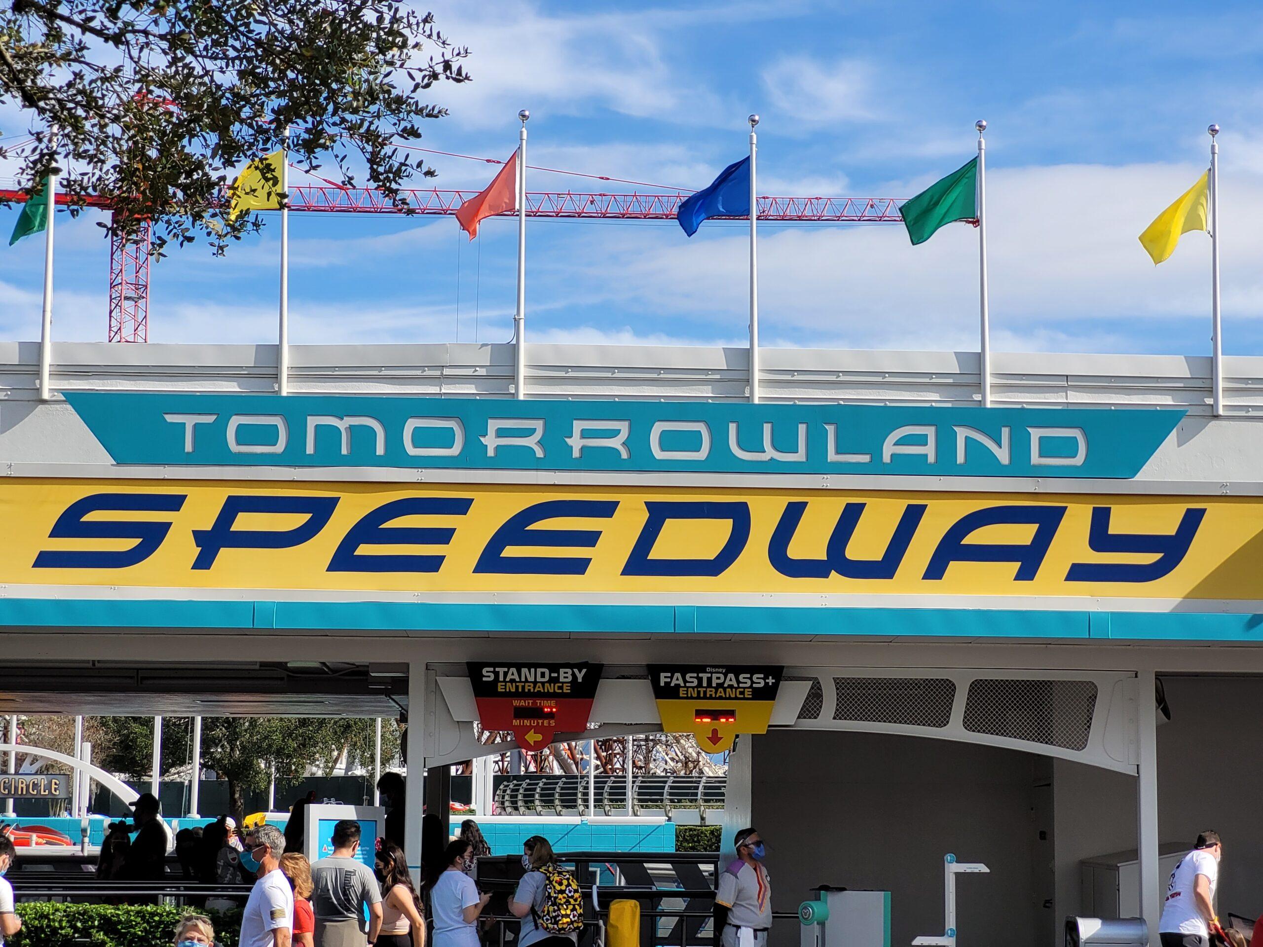 Tomorrowland Speedway Sign