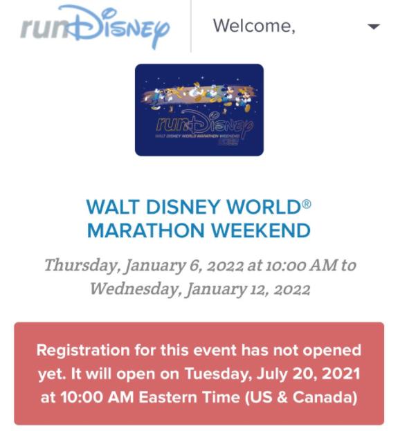 Walt Disney World Marathon Weekend Returning Screenshot