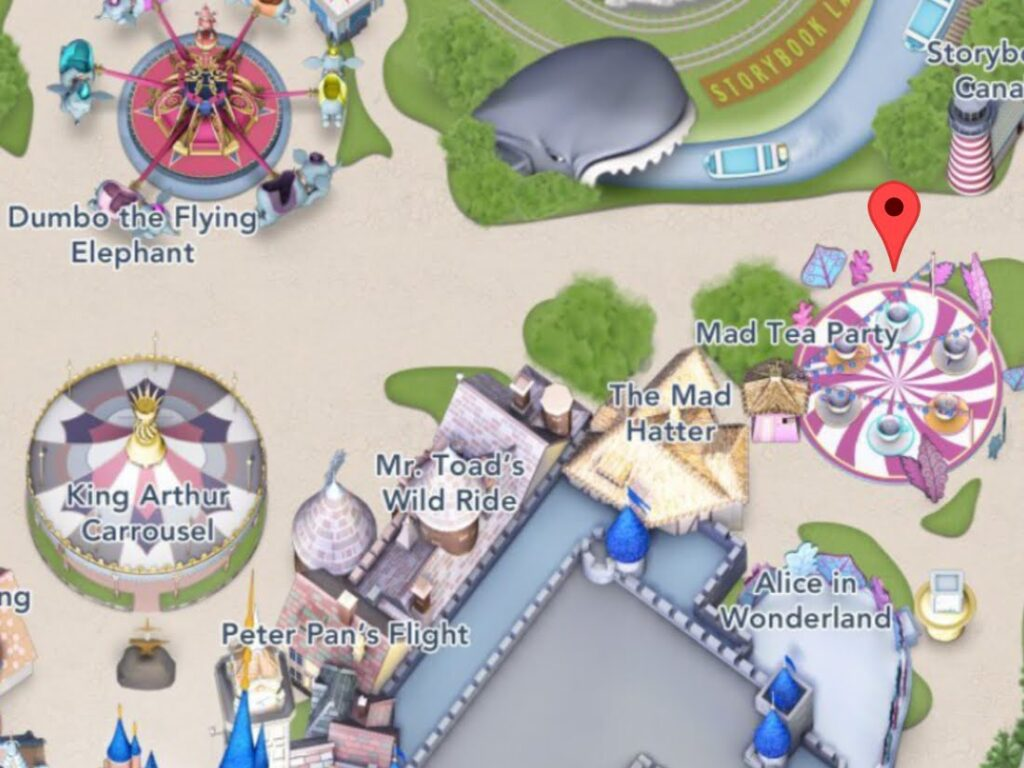 Where to Find Mad Tea Party at Disneyland