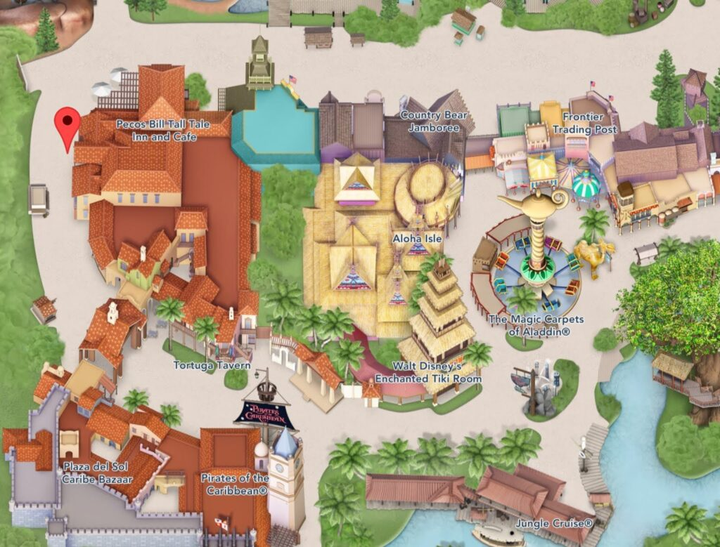 Where to Find Pecos Bill Tall Tale Inn and Cafe in Magic Kingdom