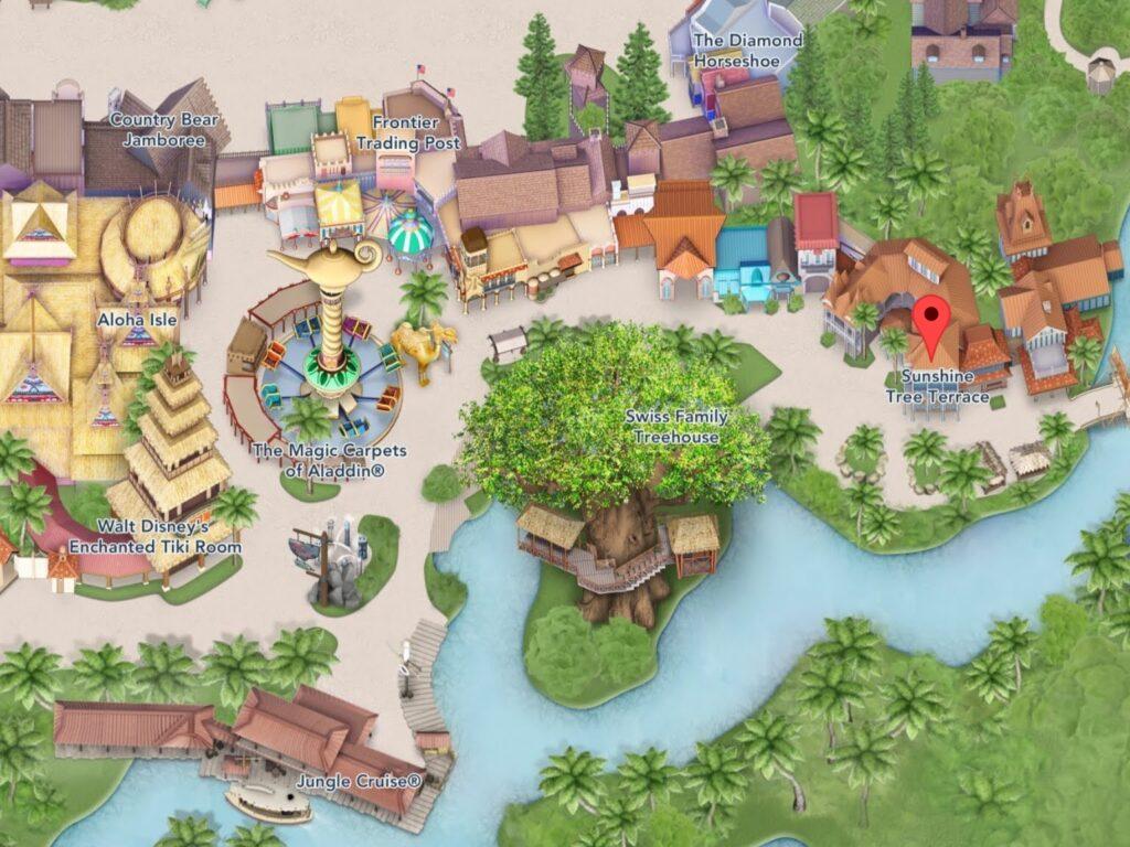 Where to Find Sunshine Tree Terrace at Magic Kingdom