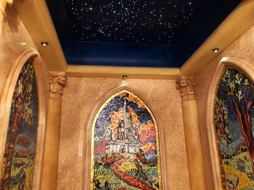 Cinderella Castle Suite Bathroom Mosaic Walls