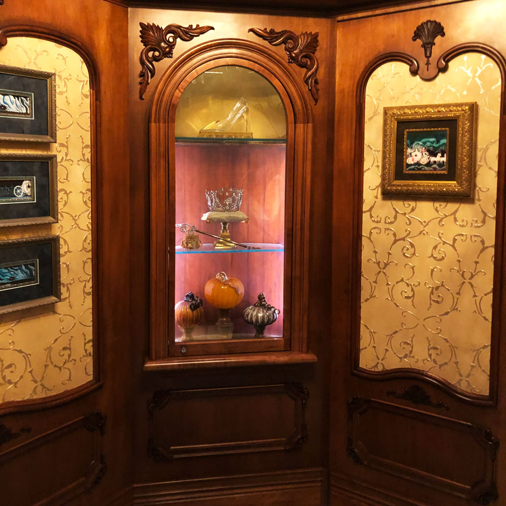 Cinderella Castle Suite Display Case with glass slipper