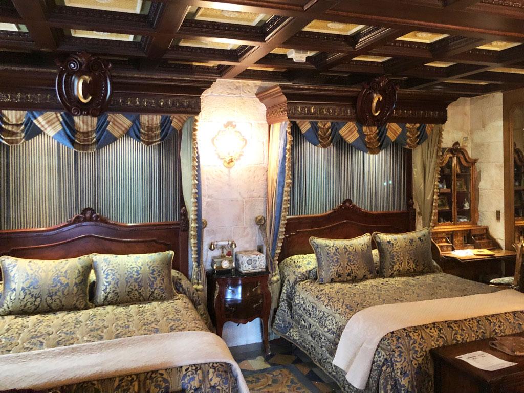 Cinderella Castle Suite Double Beds in the main bedroom