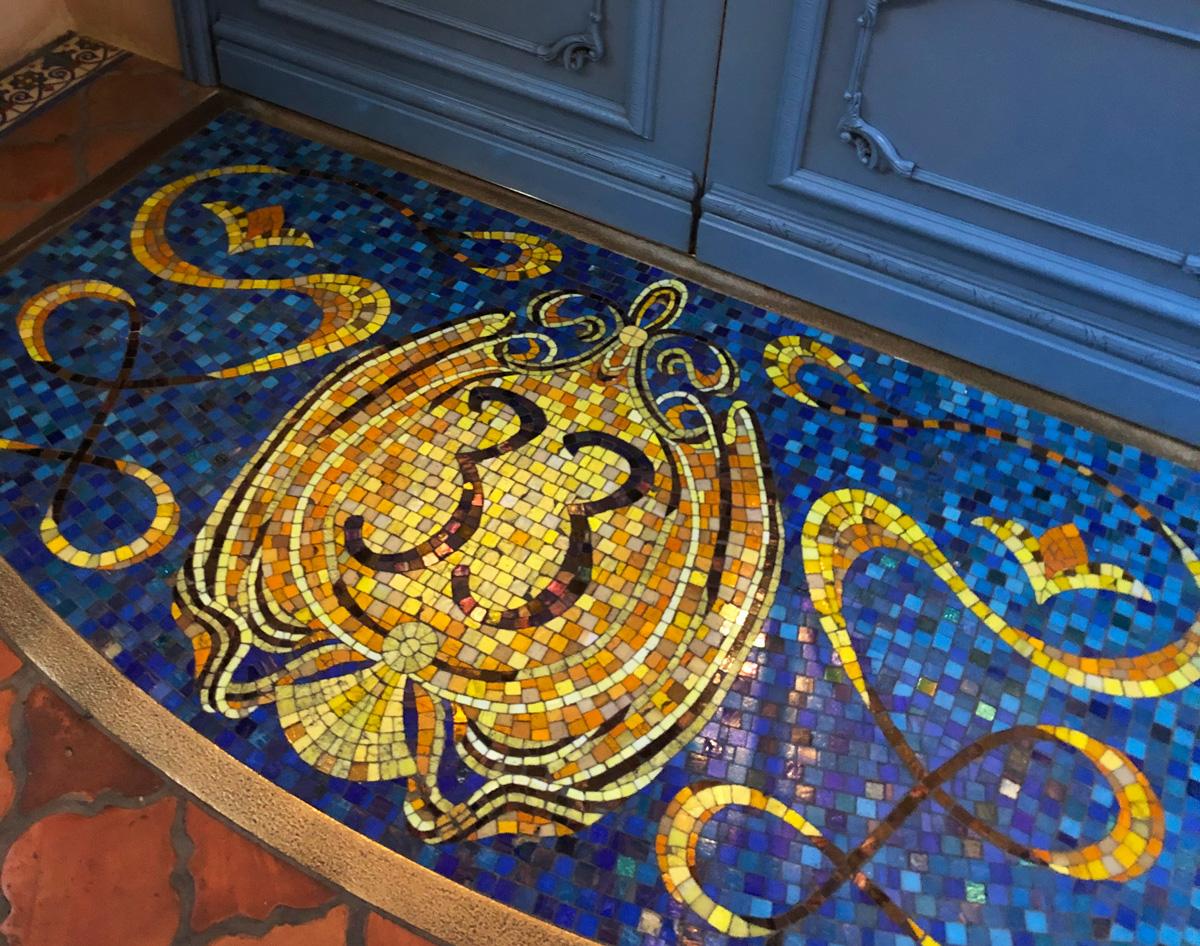 Mosaic at the entrance to Club 33 Disneyland