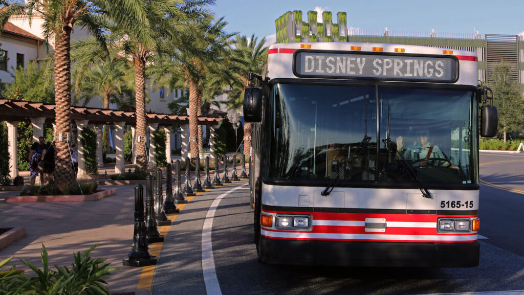 Disney World transportation buses are free to use