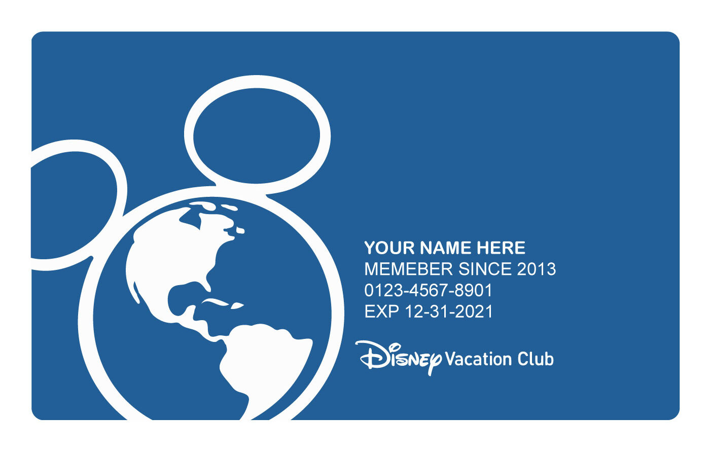 DVC Full Member Benefits Blue Card