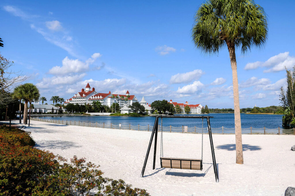 DVC's Grand Floridian view from beach