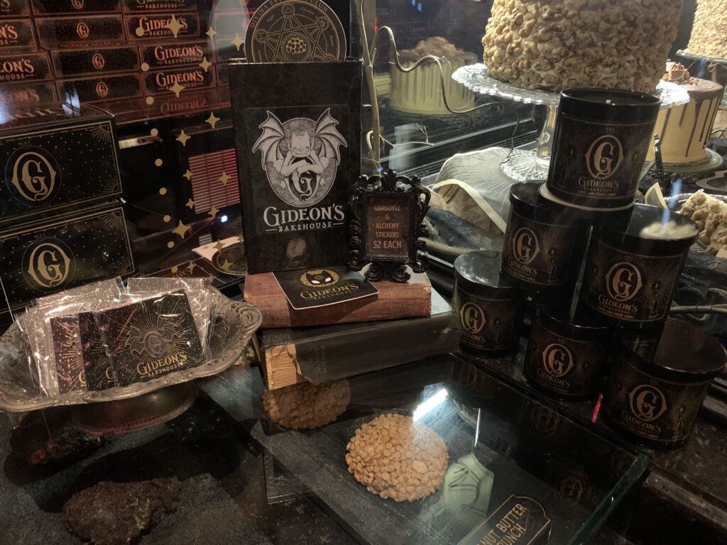 Merchandise available to purchase at Gideon's Bakehouse