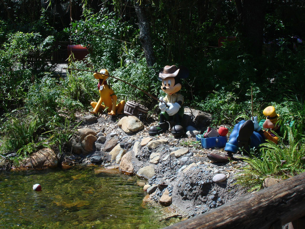 mickey and friends fishing