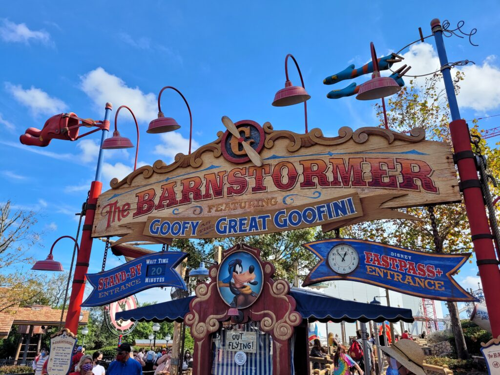 The Barnstormer entrance - Disney World